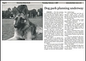Advertiser News - Dog Park Planning Underway